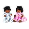 Pareja de muñecos latinos 38cm con ropa 5pz