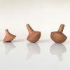Set 3 pirinolas, línea madera nativa