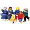 Familia 6 Muñecos Articulados Madera