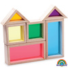 Bloques transparencias arcoíris