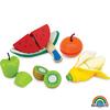 Set de frutas madera para cortar