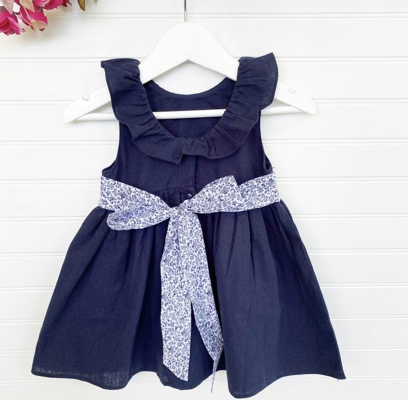 Vestido Anto Lino Azul