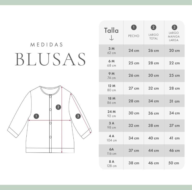 BLUSA FLORES AZUL M/L