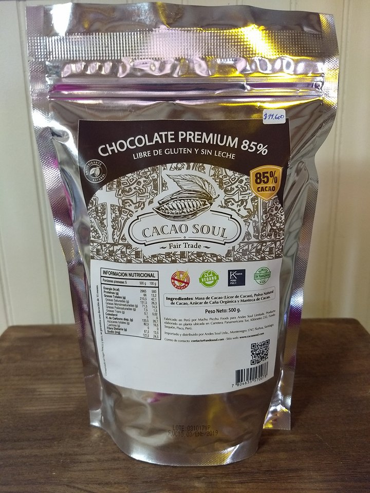 Cobertura Chocolate 85% Cacao