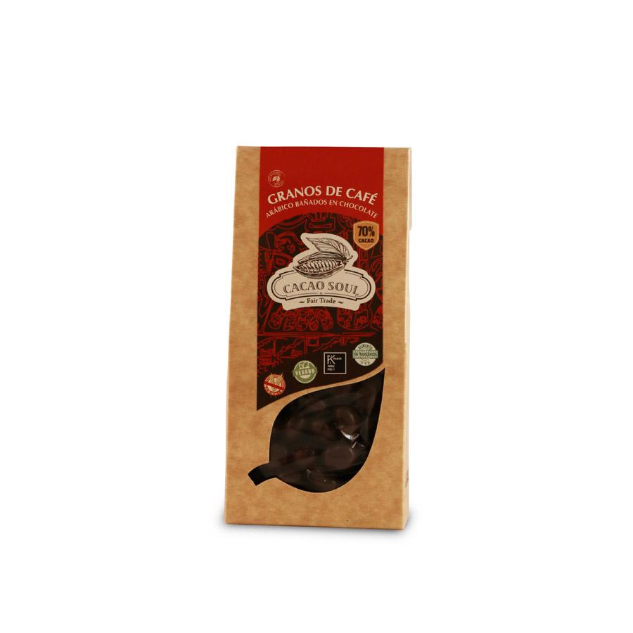 Granos de Cafe Bañados en Chocolate 70% Cacao