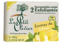 Jabón Exfoliante con extractos de Cascaras de Limón (2 x 100 gr)