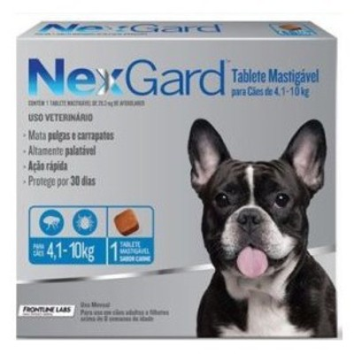 Nexgard comprimido masticable 4.1-10 kg