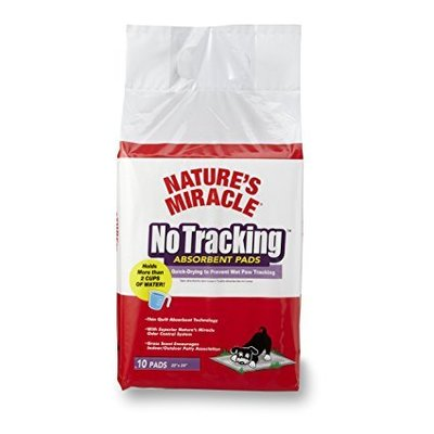 Natures Miracle No Tracking Absorbent Pads 10 unid