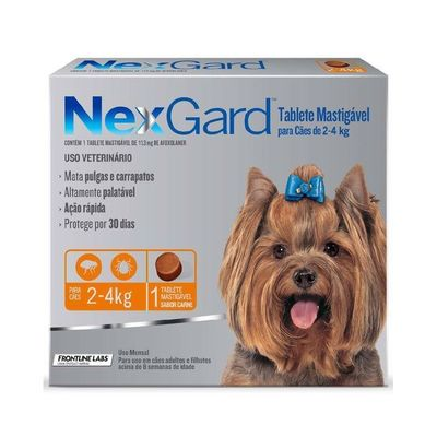 Nexgard comprimido masticable 2-4 kg