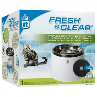 Hagen Cat It Fuente Bebedera Acero Inox 2 L