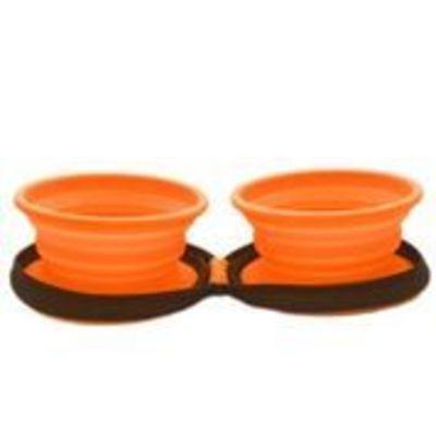 Mascan Plato Plegable Silicona Doble Naranja