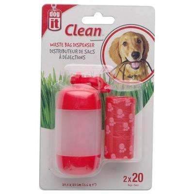 Hagen Dog It Dispensador Bolsas Fecas Rojo