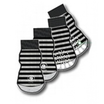 Silver Paw Calcetines Rayados Negro