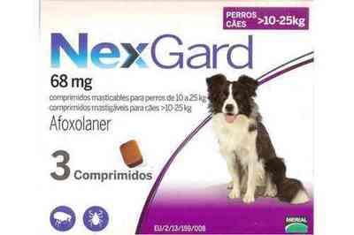 Nexgard 3 comprimidos 10.1-25 kg