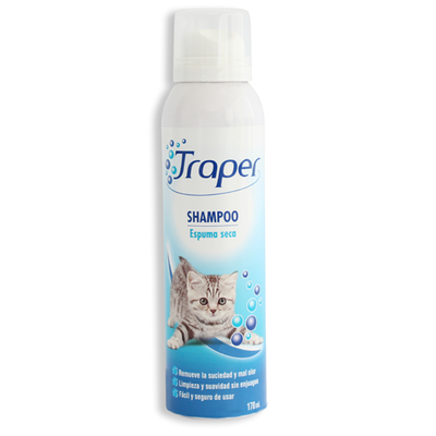 Traper Shampoo Espuma Seca Gatos