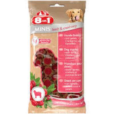 8in1 Minis Lamb & Cranberry 100gr
