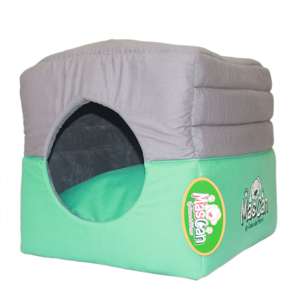 Mascan Cama Cubo Verde con Gris 45x45cm