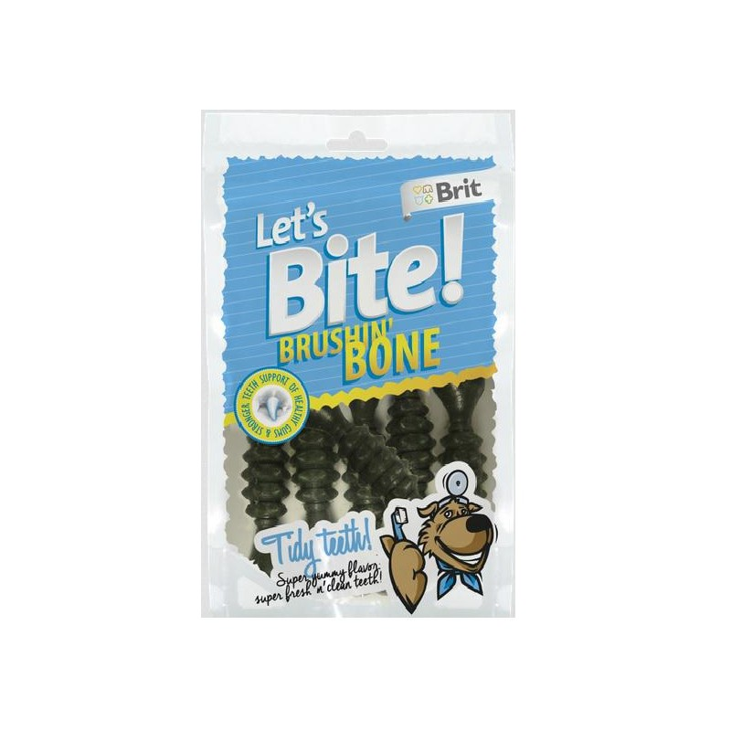 Brit Care Lets Bite Brushing Bone Perro