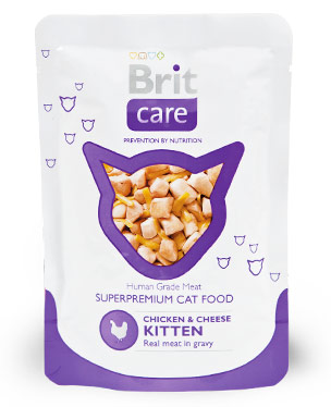 Brit Care Cat Chicken & Cheese Kitten Pouch