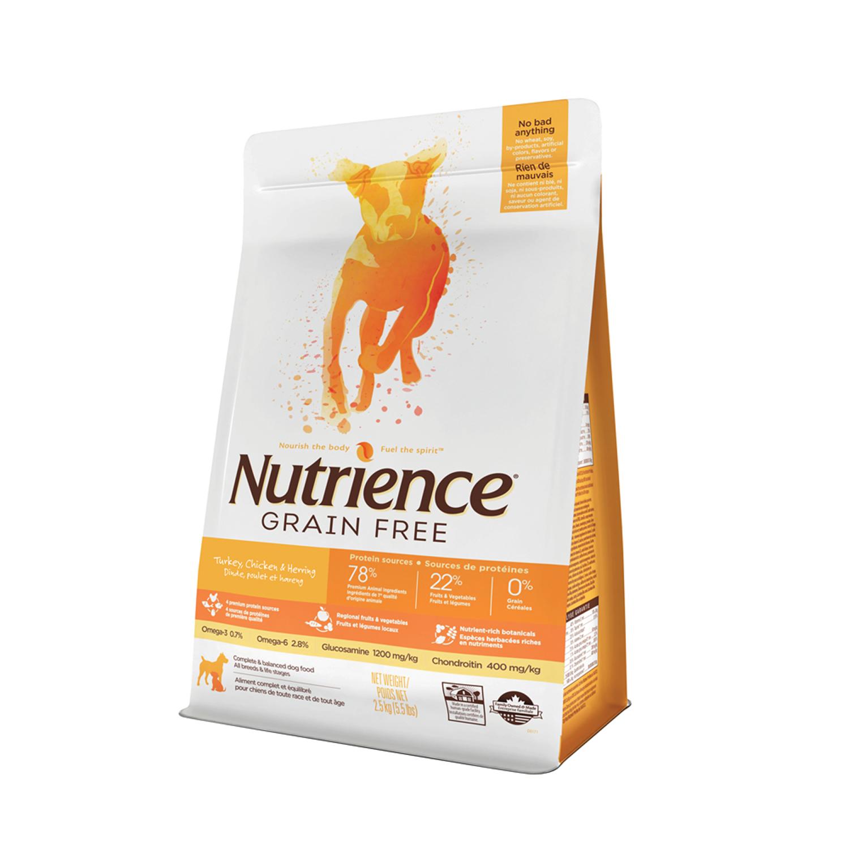 Nutrience Grain Free Pavo-Pollo-Arenque Perro.