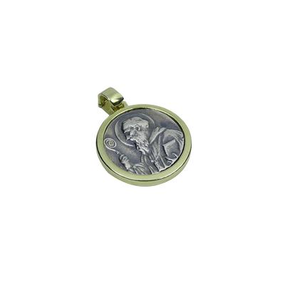 Medalla San Benito de peltre