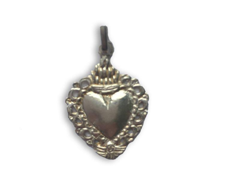Colgante corazón detente de plata