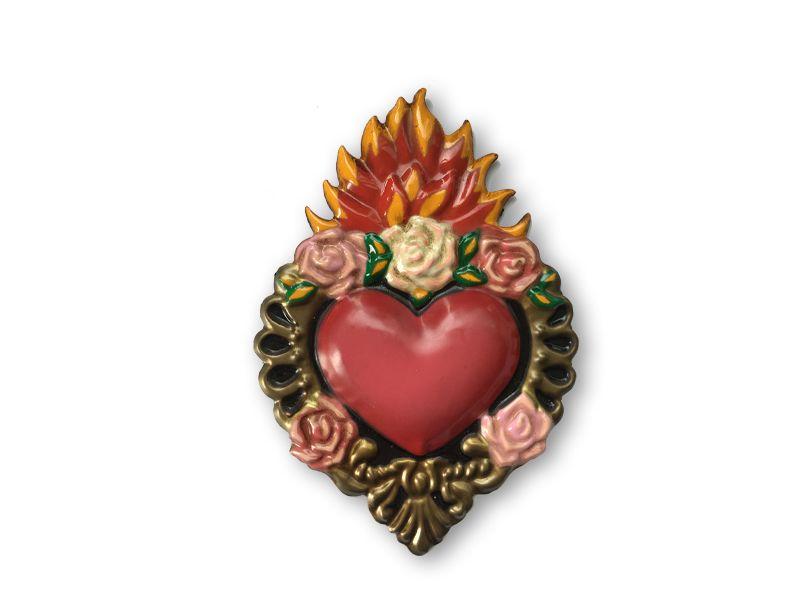Corazón  detente rosas