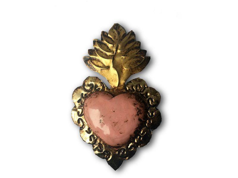 Corazón detente para colgar  rosado