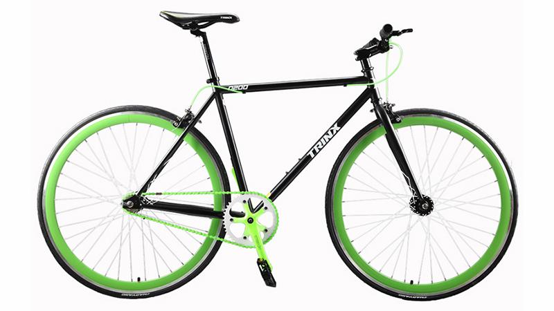 Fixie D200 negra Verde