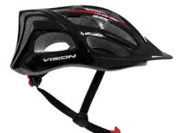 Casco Vision W838 Negro Rojo Adult Unisize Regulable Bicyc
