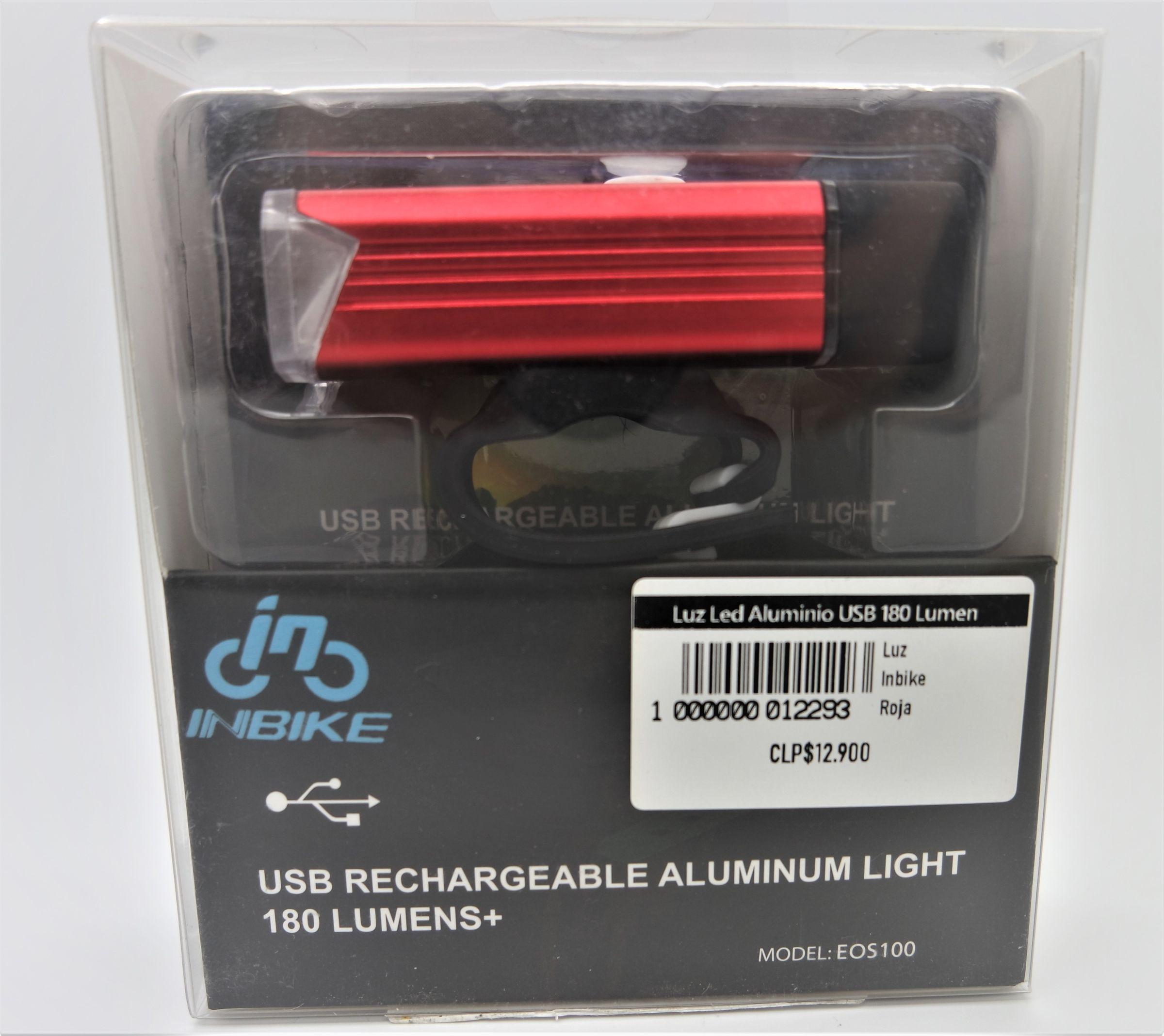 Luz Led Aluminio USB 180 Lumen