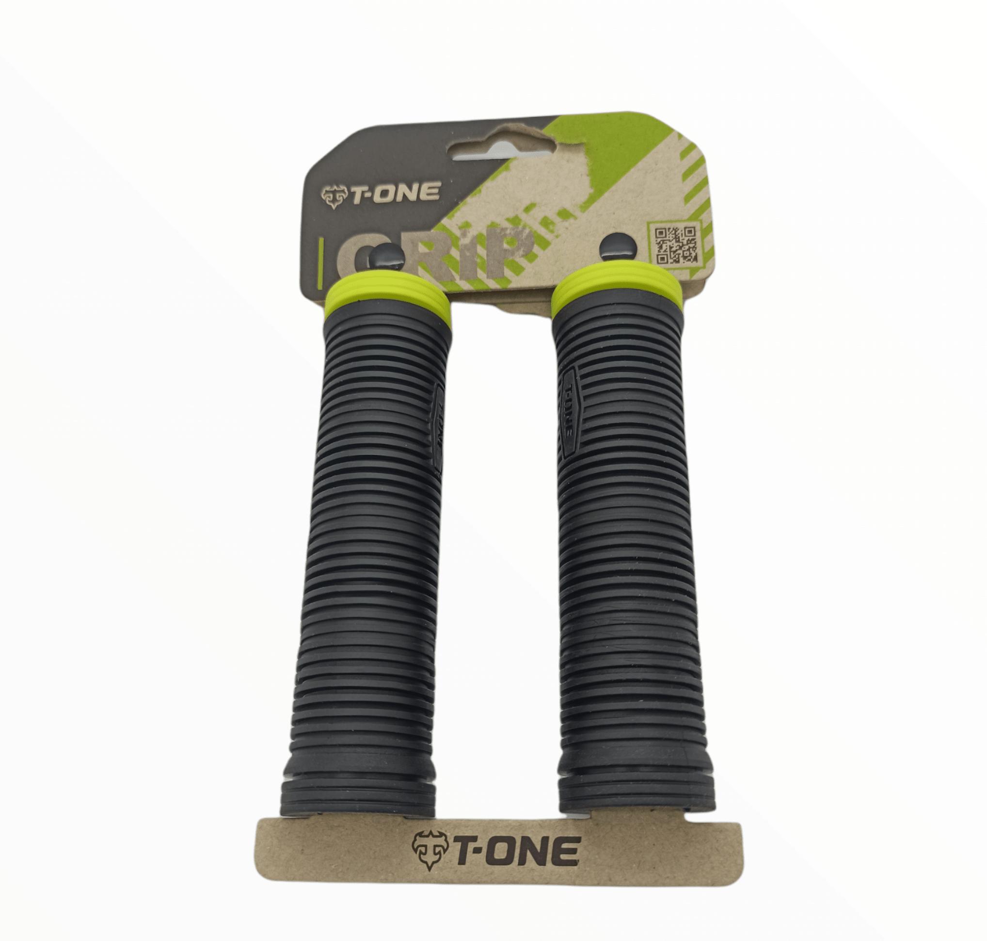 Puños T-One 2 Densidades Negro+Verde Fluor