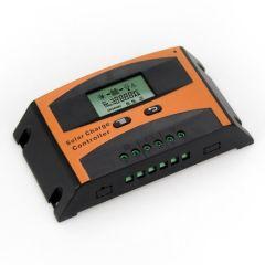 Controlador de Carga 30A 12/24V y Pantalla LCD
