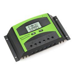 Controlador de Carga 40A 12/24V y Pantalla LCD