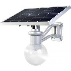 Luminaria Solar Integrada Globo 1200 Lúmenes 9W para Poste