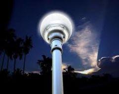 Luminaria Solar Integrada Globo 1200 Lúmenes 12W para Parques