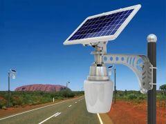 Luminaria Solar Integrada Globo 900 Lúmenes 6W para Parques, Plazas y Alumbrado Público