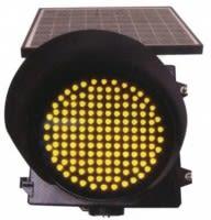 Baliza Solar de Advertencia o Acercamiento 300mm Color Amarillo