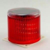 Baliza Solar Color Rojo Opera Día y Noche para Señalizar Trafico o Salida de Estacionamiento