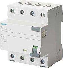 Siemens Interruptor Diferencial Tipo A 4P 25A 300mA