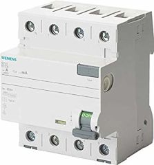 Siemens Interruptor Diferencial Tipo A 4P 63A 300mA
