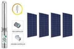 Kit Bomba Solar Pozo Profundo 3 pulg. 48 V. 1.4 m3/hr 100m.c.a. 500 W.