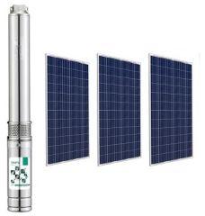 Kit Bomba Solar Pozo Profundo 3 Pulg 36V 1.25m3/hr 80mca 210W