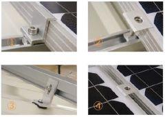 Kit de Montaje Solar 2 Paneles 250W o 300W a Techo