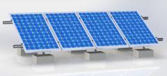 Kit de Montaje Solar 4 Paneles 250W o 340W a Piso
