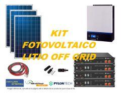 Kit Energía Solar Litio Off Grid 5kW Full