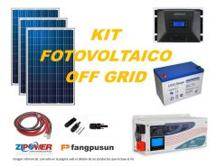 Kit Energía Solar Off Grid 2000W Full