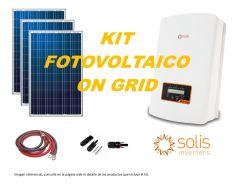 Kit Energía Solar On Grid de 3kW, Incl. Instalación y Tramite SEC