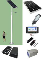 Kit Poste Solar 5 Metros 12W LED 12 Horas Zona Sur