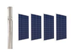 Kit Bomba Solar Pozo Profundo 4 Pulg 16m3/hr 70mca